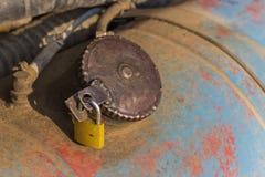 Fuel tank lock Royalty Free Stock Image