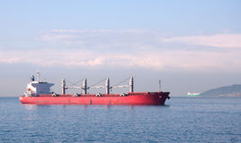 Fuel tanker. Anchored at sea Royalty Free Stock Images