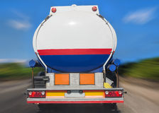 Fuel tanker track Stock Photos