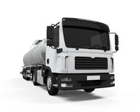 Fuel Tanker Truck. Isolated on white background. 3D render Stock Images