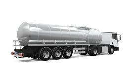 Fuel Tanker Truck. Isolated on white background. 3D render Royalty Free Stock Photo