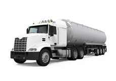Fuel Tanker Truck. Isolated on white background. 3D render Royalty Free Stock Photography