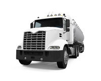 Fuel Tanker Truck. Isolated on white background. 3D render Stock Photo