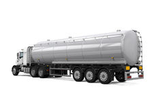 Fuel Tanker Truck. Isolated on white background. 3D render Royalty Free Stock Images