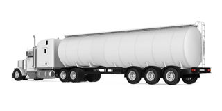 Fuel Tanker Truck. Isolated on white background. 3D render Stock Image