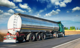 Fuel tankers. Automotive fuel tankers shipping fuel stock photography
