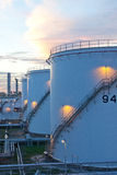 Petroleum Fuel tanks in the morning  Stock Photography