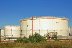 Fuel Tanks Royalty Free Stock Photography