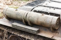Fuel tanks of the Soviet self-propelled gun Royalty Free Stock Images