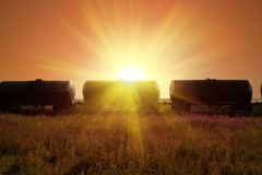 Fuel tanks. In sun rays Stock Photography
