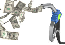 Fuel tap dollar Stock Photo