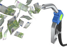 Fuel tap euro Royalty Free Stock Images