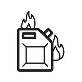 Fuel to Fire. Fire, fuel, oil icon vector image. Can also be used for firefighting. Suitable for use on web apps, mobile apps and print media Stock Photo