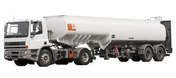 Fuel truck. Isolated fuel truck with aviation jet a1 fuel Stock Photography