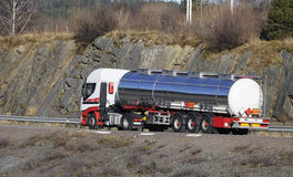 Fuel truck on the move Royalty Free Stock Photo