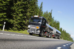 Fuel-truck On The Move Royalty Free Stock Image