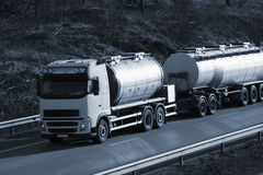 Fuel truck at sunset Stock Image
