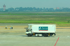 A fuel truck in Tan Son Nhat International Airport Stock Images