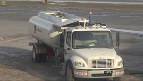 Fuel Trucks, Gasoline, Jet Fuel, Diesel stock footage