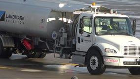 Fuel Trucks, Gasoline, Jet Fuel, Diesel stock video