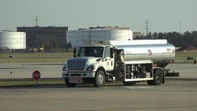 Fuel Trucks, Gasoline, Jet Fuel, Diesel stock video footage