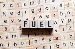 Fuel word concept royalty free stock photo