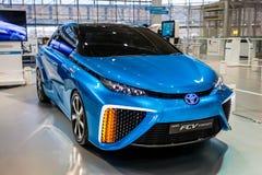 Fuelcell Toyotas Mirai Auto Lizenzfreie Stockbilder