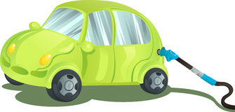 Fueling a car with gasoline. A illustration of a car being fueled up with gasoline vector illustration
