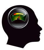 Fuelmeter in human head. Vector eps 10 Royalty Free Stock Images