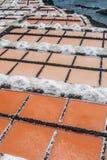Fuencaliente saltworks, los angeles Palma, wyspy kanaryjskie obraz royalty free