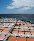 Fuencaliente saltworks, los angeles Palma, wyspy kanaryjskie fotografia stock