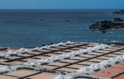 Fuencaliente saltworks, los angeles Palma, wyspy kanaryjskie zdjęcia stock