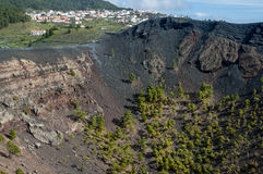 Fuencaliente and volcano, La Palma, Canary Islands Stock Photo
