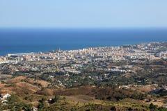 Fuengirola,西班牙鸟瞰图  库存照片