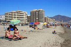 Fuengirola beach. Royalty Free Stock Photography