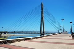 Fuengirola bridge across river. Stock Photo