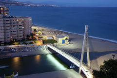 Fuengirola at dusk, Spain Stock Photography