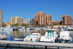 Fuengirola harbour. Stock Images