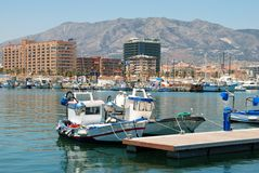 Fuengirola harbour. Royalty Free Stock Photography