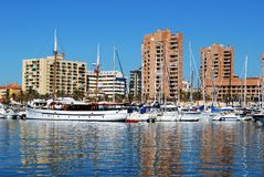 Fuengirola harbour. Royalty Free Stock Images