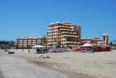 Fuengirola hotel i plaża obraz stock