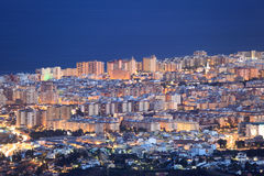 Fuengirola at night, Spain Stock Images