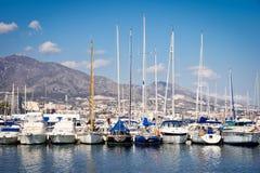 fuengirola port Royaltyfri Fotografi