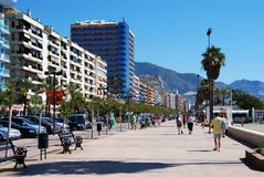 Fuengirola promenade. Stock Photography
