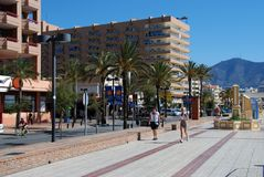 Fuengirola promenade. Stock Photo