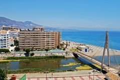 Fuengirola river and beach. Stock Photography