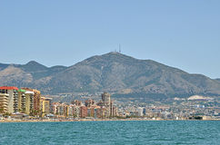 Fuengirola from sea Royalty Free Stock Photos