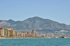 Fuengirola from sea Royalty Free Stock Photos