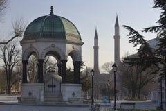 Fuente alemana en Estambul Turquía Fotografía de archivo