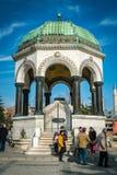 Fuente alemana en Sultan Ahmet Square Fotografía de archivo